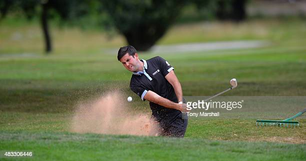 Jack Harrison of Wildwood Golf and Country Club plays out of a bunker onto the 16th green during the Galvin Green PGA Assistants' Championship Day 3...