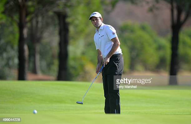 Jack Harrison of Wildwood Golf and Country Club putts on the 18th green during the second round of the PGA PlayOffs at Antalya Golf Club PGA Sultan...