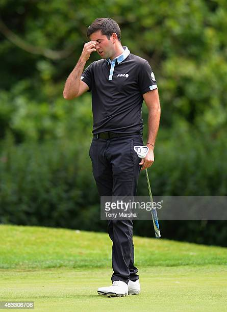 Jack Harrison of Wildwood Golf and Country Club reacts after missing a putt during the Galvin Green PGA Assistants' Championship Day 3 at Coventry...