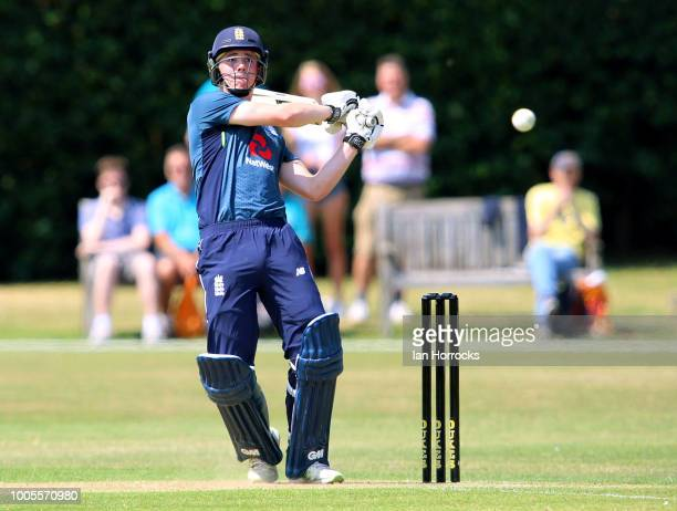 Jack Haynes of England during the second ODI between England U19 and South Africa U19 at South Northumberland CC on July 26 2018 in Gosforth England