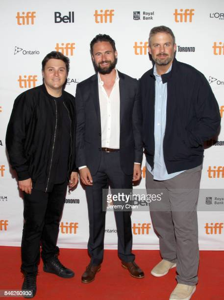 """Jack Heller, Nate Bolotin, and Dallas Sonnier attend the """"Brawl in Cell Block 99"""" premiere during the 2017 Toronto International Film Festival at..."""