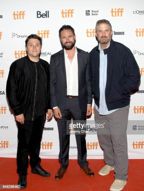 Jack Heller Nate Bolotin and Dallas Sonnier attend the 'Brawl in Cell Block 99' premiere during the 2017 Toronto International Film Festival at...