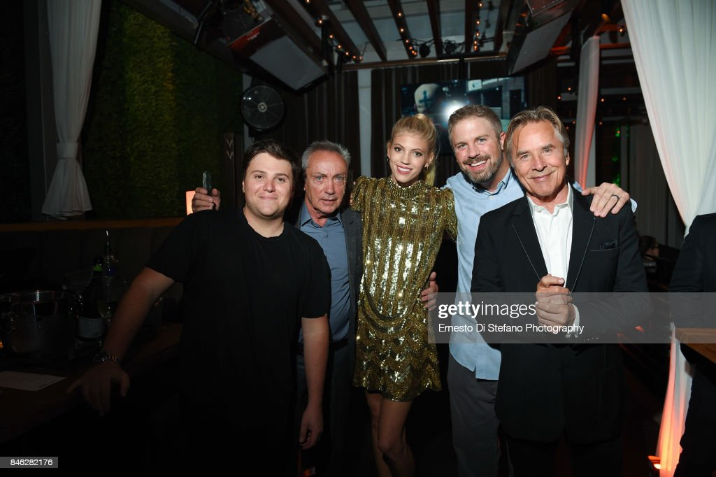 Jack Heller, Udo Kier, Devon Windsor, Dallas Sonnier and Don Johnson attend 'Brawl In Cell Block 99' Premiere Party Hosted By Cactus Club Cafe At First Canadian Place In partnership With CIROC at First Canadian Place on September 12, 2017 in Toronto, Canada.