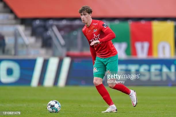 Jack Hendry of KV Oostende during the Jupiler Pro League match between KV Oostende and Waasland-Beveren at Diaz Arena on April 3, 2021 in Oostende,...