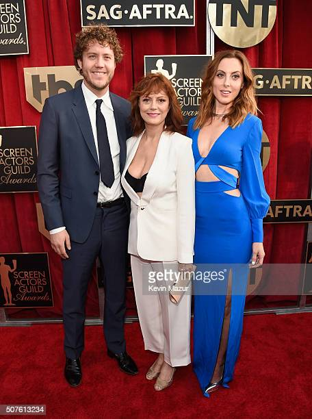 Jack Henry Robbins Susan Sarandon and Eva Amurri Martino attend The 22nd Annual Screen Actors Guild Awards at The Shrine Auditorium on January 30...