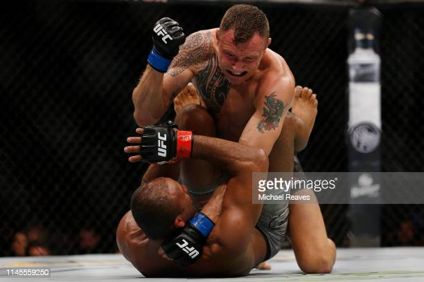 Jack Hermansson of Sweden punches Ronaldo Souza of Brazil during their middleweight bout at UFC Fight Night at BBT Center on April 27 2019 in Sunrise...