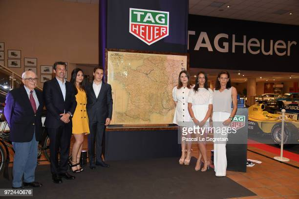 Jack Heuer, TAG Heuer Ambassador and actor Patrick Dempsey, Louis Ducruet and his fiancee Marie Chevallier, Camille Gotlieb, Pauline Ducruet and...
