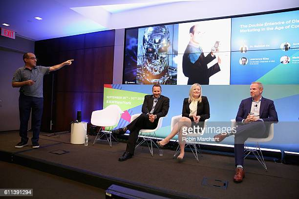 Jack Hildary Lawrence Kiey Kelly Hyland Nye and Matt McNally speak onstage at The Double Entendre of Disruption Innovative Marketing in the Age of...