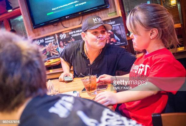 Jack Hillegass teases BreAnnah Belliveau after their show at Applebees in Laurel Ms on Feb 10 2018 The Micro Wrestling Federation is a full scale WWE...