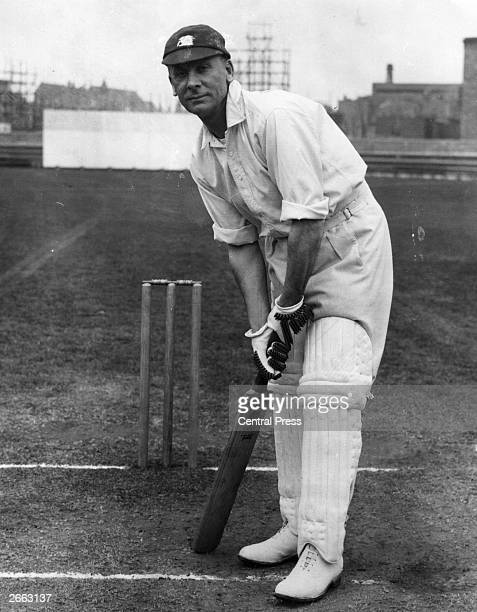 Jack Hobbs , British cricket player at the Oval in 1930. He played in county cricket for Cambridgeshire and Surrey , and for England , made 5410 runs...