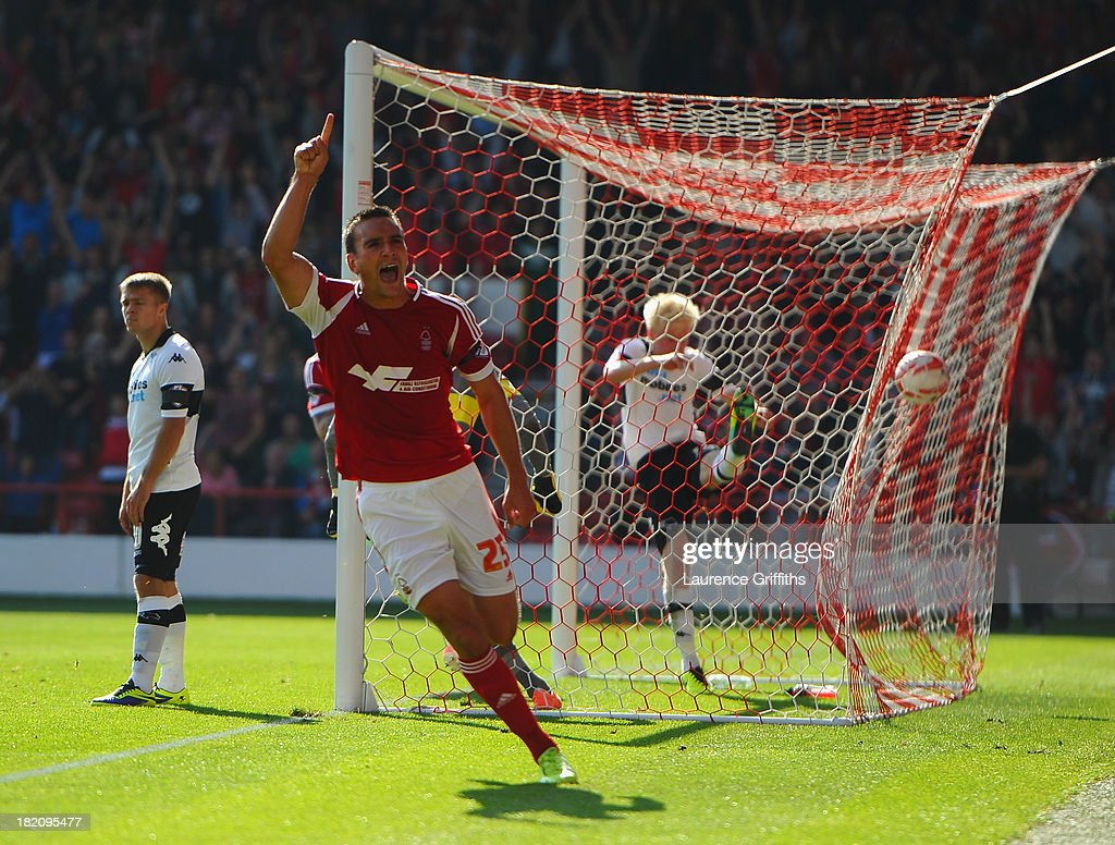 Jack Hobbs of Nottingham Forest during the Sky Bet Championship match between Nottingham Forest and Derby County at City Ground on September 28, 2013 in Nottingham, England,
