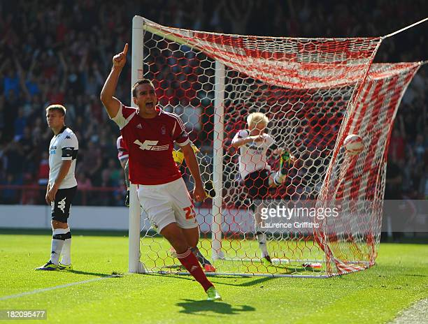 Jack Hobbs of Nottingham Forest during the Sky Bet Championship match between Nottingham Forest and Derby County at City Ground on September 28 2013...
