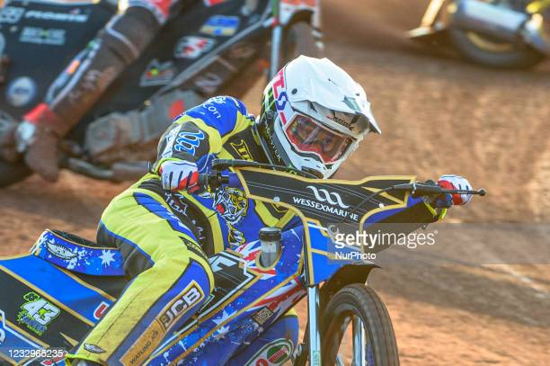 Jack Holder - Sheffield TruPlant Tigers during the SGB Premiership match between Belle Vue Aces and Sheffield Tigers at the National Speedway...