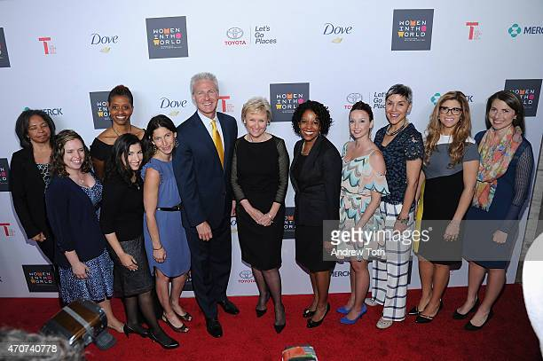 Jack Hollis Tina Brown Sandra Phillips and the Toyota Mothers of Invention attend the Women In World Summit at the David H Koch Theater at Lincoln...