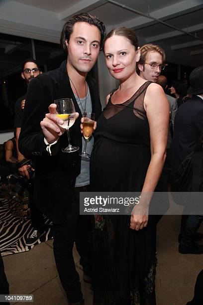 Jack Houston and Yelena Yemchuk attend the Another Magazine dinner at Milk Studios on September 14 2010 in New York City