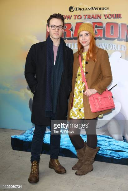 Jack Howard and Hazel Hayes attend How To Train Your Dragon The Hidden World – Immersive Screening on January 26 2019 in London England