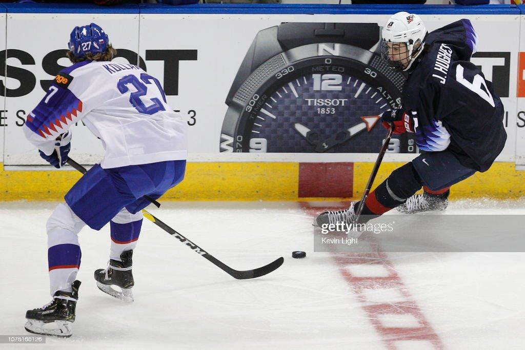 United States v Slovakia - 2019 IIHF World Junior Championship : News Photo