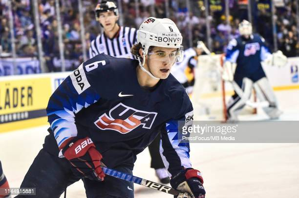 Jack Hughes of USA during the 2019 IIHF Ice Hockey World Championship Slovakia group A game between Germany and United States at Steel Arena on May...