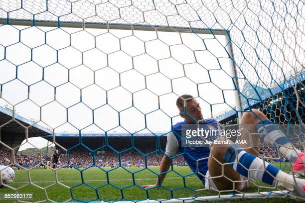 Jack Hunt of Sheffield Wednesday reacts after conceding during the Sky Bet Championship match between Sheffield Wednesday and Sheffield United at...