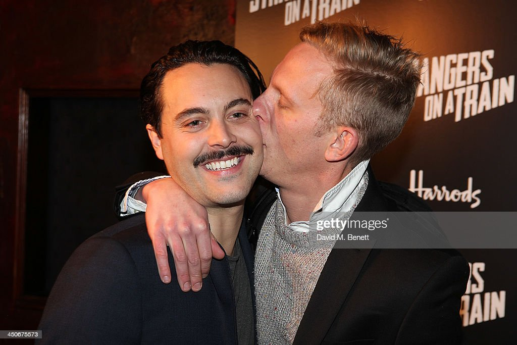 Jack Huston and Laurence Fox attends an after party following the press night performance of 'Strangers On A Train' at the Cafe de Paris on November 19, 2013 in London, England.