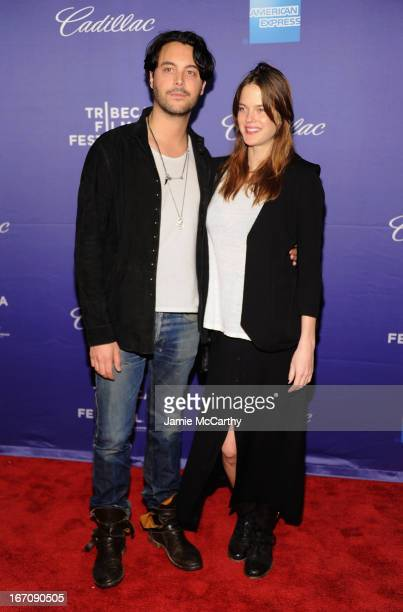 """Jack Huston and Shannan Click attend the screening of """"In God We Trust"""" during the 2013 Tribeca Film Festival at SVA Theater on April 19, 2013 in New..."""