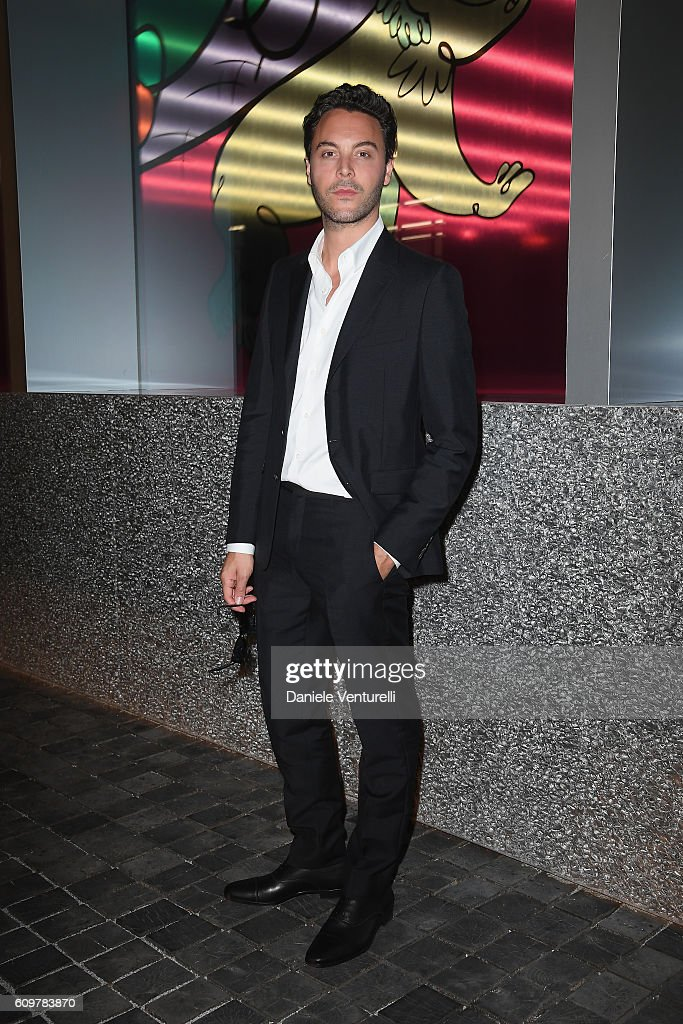 Jack Huston attends Miuccia Prada and Patrizio Bertelli private screening of a short movie by David O. Russell and dinner party at Fondazione Prada during Milan Fashion Week Spring/Summer 2017 on September 22, 2016 in Milan, Italy.