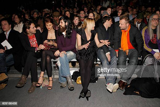 Jack Huston Helena Christensen and Front Row attend MARC JACOBS Fall 2007 Collection at The Armory on February 5 2007 in New York City