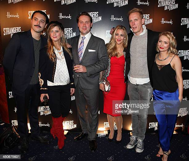 Jack Huston Imogen Stubbs Christian McKay Miranda Raison Laurence Fox and Myanna Buring attend an after party following the press night performance...