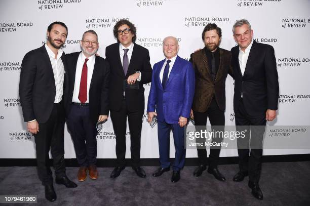 Jack Huston Morgan Neville Bob Murawksi Frank Marshall Filip Jan Rymsza and Danny Huston attend The National Board of Review Annual Awards Gala at...