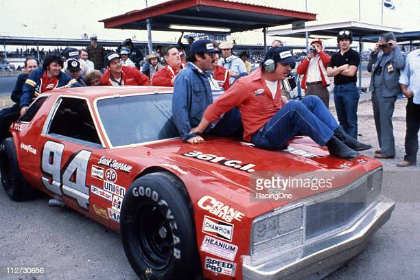Jack Ingram heads to victory lane after driving his Ford Fairmont to victory in the NASCAR Late Model Sportsman 300 at Daytona International Speedway