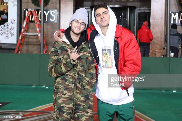 Jack Jack perform during Day 2 of the 2018 Macy's Thanksgiving Day Parade Rehearsals at Macy's Herald Square on November 20 2018 in New York City