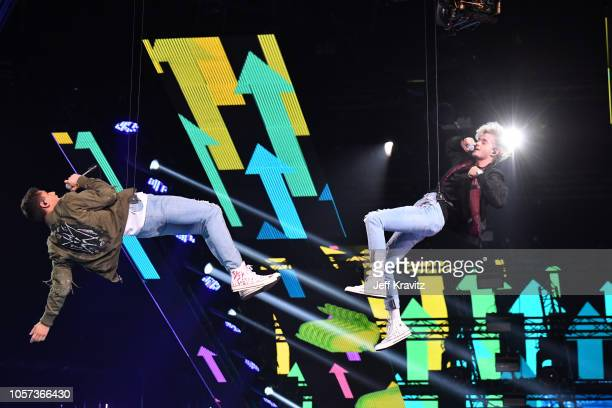 Jack Jack perform on stage during the MTV EMAs 2018 on November 4 2018 in Bilbao Spain