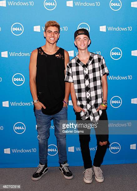Jack Jack pose at #DellLounge powered by Windows 10 on August 1 2015 in Chicago Illinois