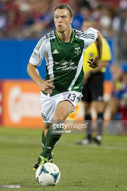 Jack Jewsbury of the Portland Timbers controls the ball against FC Dallas on June 26 2013 at FC Dallas Stadium in Frisco Texas