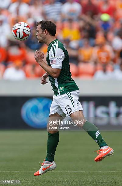 Jack Jewsbury of the Portland Timbers in action against the Houston Dynamo during the first half of their game at BBVA Compass Stadium on April 27...