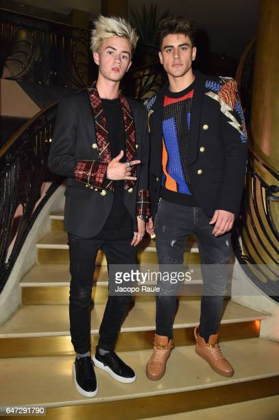 Jack Johnson and Jack Gilinsky attend Balmain aftershow party as part of Paris Fashion Week Womenswear Fall/Winter 2017/2018 at Manko Paris on March...