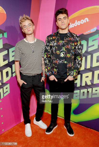 Jack Johnson and Jack Gilinsky of Jack Jack attend Nickelodeon's 2019 Kids' Choice Awards at Galen Center on March 23 2019 in Los Angeles California