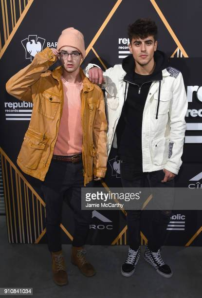 Jack Johnson and Jack Gilinsky of Jack Jack attend Republic Records Celebrates the GRAMMY Awards in Partnership with Cadillac Ciroc and Barclays...