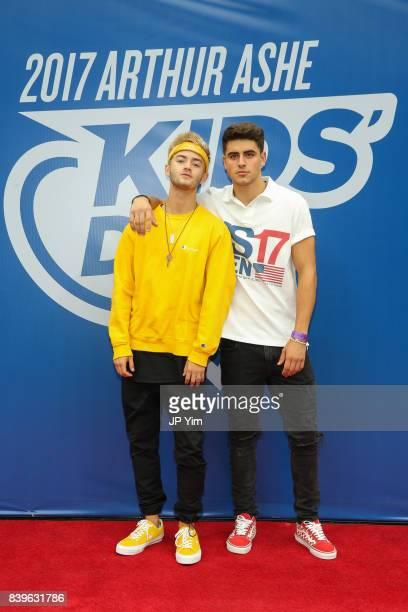 Jack Johnson and Jack Gilinsky of Jack Jack attend the 22nd Annual Arthur Ashe Kid's Day event at the USTA Billie Jean King National Tennis Center on...