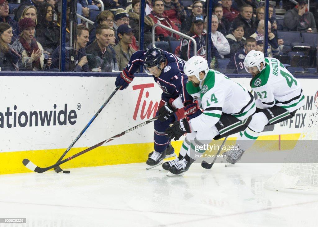 NHL: JAN 18 Stars at Blue Jackets : News Photo