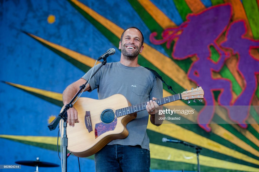 Jack Johnson performs at the New Orleans Jazz & Heritage Festival at the Fair Grounds Race Course on April 28, 2018 in New Orleans, Louisiana.