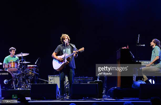 Jack Johnson performs at What Stage during day 3 of the 2013 Bonnaroo Music Arts Festival on June 15 2013 in Manchester Tennessee