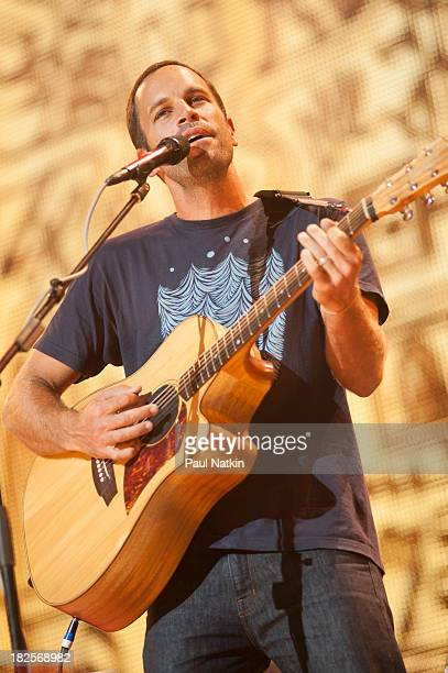 Jack Johnson performs during Farm Aid 2013 at Saratoga Performing Arts Center on September 21 2013 in Saratoga Springs New York