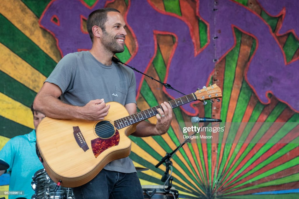 Jack Johnson performs during the New Orleans Jazz & Heritage Festival 2018 at Fair Grounds Race Course on April 28, 2018 in New Orleans, Louisiana.