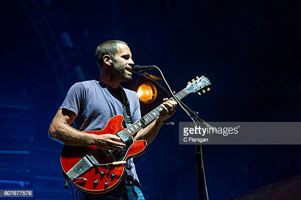 Jack Johnson performs on the Sunset Cliffs Stage during the 2016 KAABOO Del Mar at the Del Mar Fairgrounds on September 18 2016 in Del Mar California