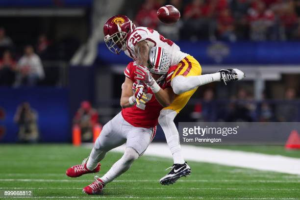 Jack Jones of the USC Trojans breaks up a pass intended for Austin Mack of the Ohio State Buckeyes during the Goodyear Cotton Bowl Classic at ATT...
