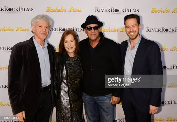 Jack Kavanaugh Leslie Kavanaugh Matthew Kavanaugh and Robert Davi arrive at Bachelor Lions Film Premiere on January 9 2018 in Hollywood California