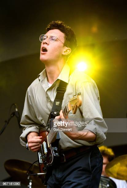 Jack Kaye of The Magic Gang performs on stage at All Points East in Victoria Park on June 3 2018 in London England