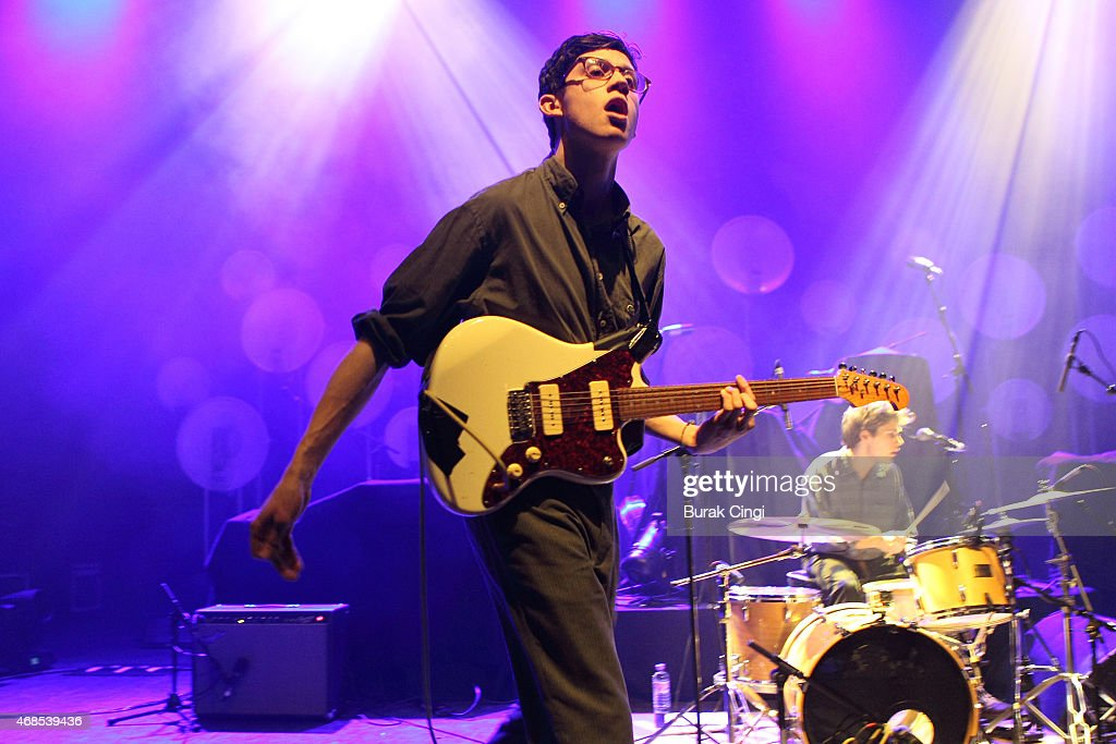 Jack Kaye of The Magic Gang performs on stage at O2 Shepherd's Bush Empire on April 3, 2015 in London, United Kingdom.
