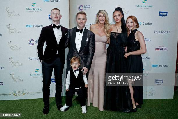 Jack Keating Cooper Keating Ronan Keating Storm Keating Missy Keating and Ally Keating attend the 13th annual Emeralds Ivy Ball in partnership with...